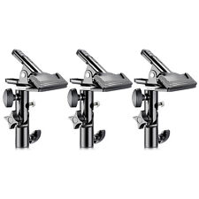 """Neewer 3-packs Metal Clamp Holder with 5/8"""" Light Stand Attachment for Reflector"""