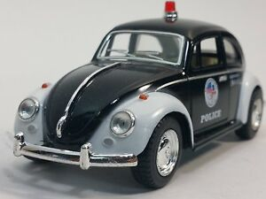 "5"" Kinsmart 1967 Volkswagen Classical Beetle Police Car 1:32 Diecast Model Toy"