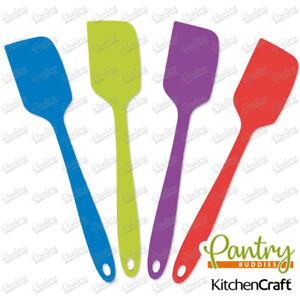 Kitchen Craft Mini Silicone Bowl Scraper / Spatula Spoon - Anti-scratch 20cm