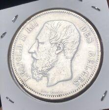 5 Frank - 5 Francs 1865  Leopold II En Argent - Année Rare !