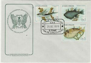 ST. THOMAS AND PRINCE 1979 FIRST DAY COVER FISH