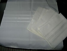 """New Set of 4 Ivory Linen Table Napkins 17"""" Square"""