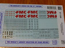 Microscale Decal HO  #87-1308  FMC Chemicals & XTRA Covered Hoppers