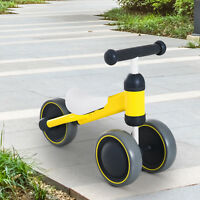 HOMCOM Kids Baby Toddler Trike 3 Wheel Ride-on Cycle for Balance Training Yellow