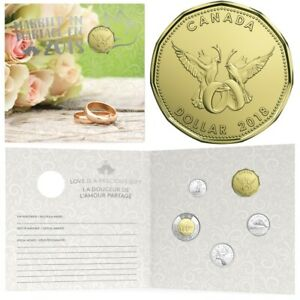 2018 Canada Wedding Gift Set of Coins