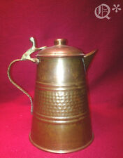 Vintage Copper Coffee Pot Water Pitcher with Brass Handle
