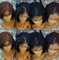 Handmade African Braided Bob Wigs