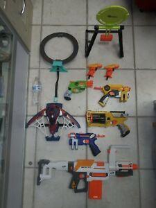 Nerf Gun Lot Of 8 Tested Working Great Shape Rival N Strike Elite Zombie Modulus