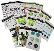 Bulk Lot #45 S.E.I. Black Orchid Scrapbook Stickers Die-Cuts Brads + 357 pcs