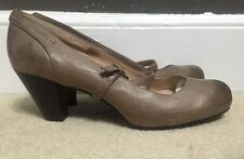 Frye Miranda Womans Brown Leather Mary Jane Point Toe Heels Shoes Size 10M