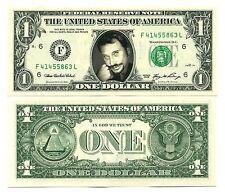 JOHNNY HALLYDAY - VRAI BILLET de 1 DOLLAR US ! COLLECTION Rock N' Roll Français