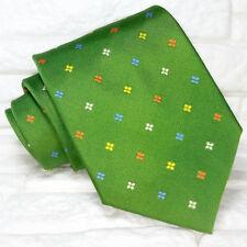 Cravatta uomo  Verde Jacquard  Made in Italy seta business eventi matrimoni