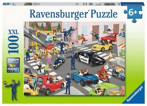 Ravensburger Puzzle 100pc Police On Patrol 0401-7
