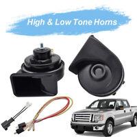 12V 125db Loud Dual Tone Waterproof Snail Horn For Ford F-150 MK12 2009-2014