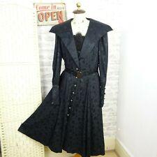Vestido Negro De Seda Vintage Gótico Victoriano institutriz Steampunk dramático M D554