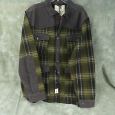 NWT Smith & Wesson Brown/Green Plaid 80510 Range Shirt Jacket Men Size XXL ANB
