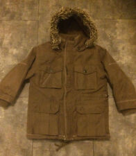 Super warm IKKS boys designer heavy parka coat. Removable lining & hood. Age 5