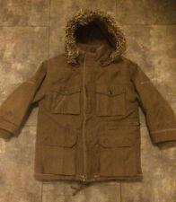 Super warm IKKS boys designer heavy parka coat. Removable lining & hood. Age 5