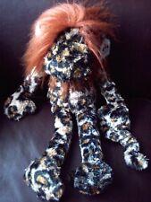 "Jellycat Zany Monkey Leopard Print Soft Floppy Cuddly Hug Toy J492 18"" WT"