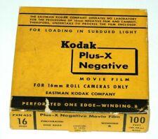 KODAK PLUS-X NEGATIVE MOVIE FILM--16MM-- VINTAGE AND COLLECTIBLE!