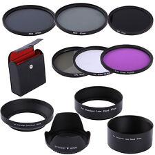 67mm UV CPL FLD ND2 ND4 ND8 Filter Kit +Lens Hoods For Canon EF18-135mm 10-18mm