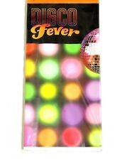 """NEW   DISCO FEVER 1-PLASTIC TABLE COVER 54""""x102""""  PARTY SUPPLIES"""