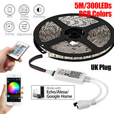 5m 300LED Smart RGB WiFi RC Light Strip Waterproof For Alexa Amazon Google Home