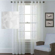 QUICKFIT SHEER EYELET CURTAIN WHITE 250CM LONG DROP