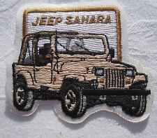 Jeep Sahara Aufnäher Patch 8,5 x 7 cm NEU (A49v)
