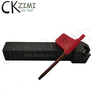 1× SEL 2020K16 20×125mm CNC Lathe Thread Turning Tool Holder,For 16ER Insert