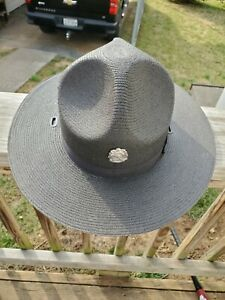 State Trooper Hat with Pin Size 7 Ranger trooper state police sheriff