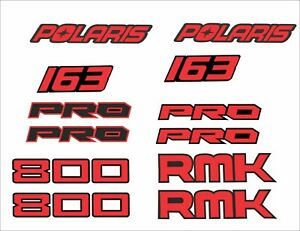 POLARIS L tunnel side panel decal hood  rocky AXYS 120 137 800 rmk red black