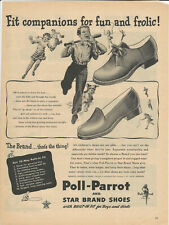 Vintage Ad 1945 Poll-Parrot and Star Brand Shoes