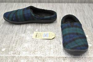 **Toms Berkeley Slippers, Men's Size 9, Spruce Plaid Felt NEW