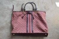 Anya Hindmarch Pink Purple AH Pattern Canvas Shopper Holdall Bag Handbag Womens