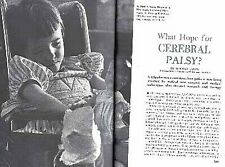 CEREBRAL PALSY 1958 WHAT HOPE? PICTORIAL NEW SURGICAL & MEDICAL TECHNIQUES