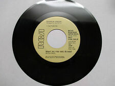 """SOUL 1973 DARREN GREEN""""WHAT DO YOU SEE IN HIM""""1st PROMO 45RPM RCA DJHO-0016 EX+"""