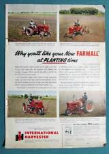 8x12 Orig Farmall Super A, Cub, C & H Ad YOU'LL LIKE FARMALL AT PLANTING TIME