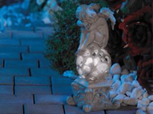 "Lunartec Gartendekoration ""Träumender Engel"" mit Solar-LED-Beleuchtung Sklutpur"