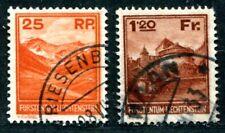 LIECHTENSTEIN 1933 119,121 gestempelt 560€(S2861