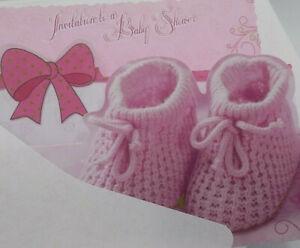 English Baby Shower Invitations Girl Pink,Party Supplies,Favors,niña,rosa,ingles