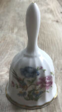 Spode Bell fine bone china porcelain England Bird Flower Astrapia figurine roses