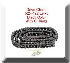 O-Ring Drive Chain Black Color Pitch 525x122Links For Honda ACE750 VT750