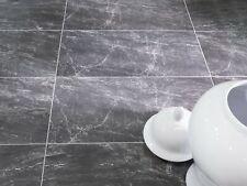 Black Porcelain Tiles Matt 60x30 Stone Marble Effect Jefferson Black