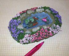 Miniature Fantastic Landscaped Goldfish Pond #3, Medium: Dollhouse 1:12 Scale