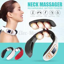 6/3 Head USB Wireless Neck Massager Cervical Infrared Heating Vibration Massage
