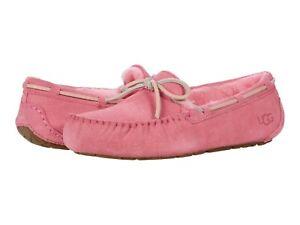 Women's Shoes UGG DAKOTA Suede Indoor/Outdoor Moccasin Slipper 1107949 PINK ROSE