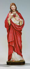 The Sacred Heart of Jesus, Hand Made in Italy, Hand Painted Statue, 6.2' Inches