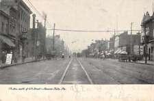 Beaver Falls Pennsylvania Street Scene Historic Bldgs Antique Postcard K88249