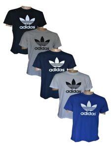 adidas T-Shirt, Trefoil Label, S-XXL, schwarz, weiß, blau, grau, navy